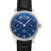 IWC Portuguese Annual Calendar Acier 44.20mm Bleu