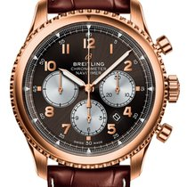 Breitling Red gold Automatic Bronze Arabic numerals 43,00mm new Navitimer 8