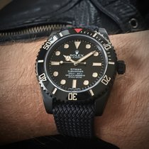 Rolex Submariner (No Date) Сталь 44mm Чёрный Без цифр