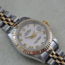 Rolex Lady-Datejust Gold/Steel 26mm Purple No numerals