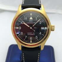 IWC Yellow gold Automatic Black Arabic numerals 36mm pre-owned Pilot Mark