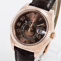 Rolex Sky-Dweller Roségold 42mm Braun Arabisch Deutschland, Weißenhorn