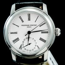 Frederique Constant Manufacture Classic Staal 42mm Zilver Romeins