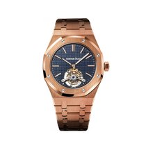 Audemars Piguet Rose gold Manual winding Blue No numerals 41mm new Royal Oak Tourbillon