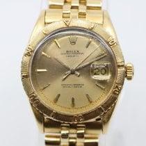 Rolex Or jaune Remontage automatique Noir Sans chiffres 36mm occasion Datejust Turn-O-Graph