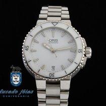 Oris Aquis Date Steel 36mm White