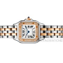 Cartier Panthère Gold/Steel 22mm Silver Roman numerals United States of America, Florida, Aventura