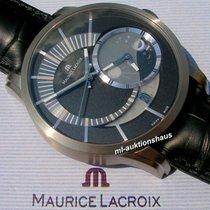 Maurice Lacroix Titan Automatik Schwarz Keine Ziffern 45mm gebraucht Pontos Décentrique GMT