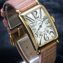 Franck Muller Long Island Yellow gold 23mm White Roman numerals