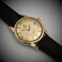 Omega Constellation pre-owned 34mm Gold Leather