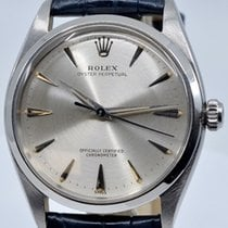 Rolex Oyster Perpetual Stahl 34mm Silber