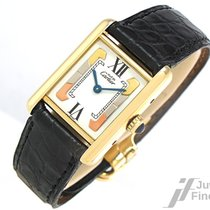 Cartier Tank Vermeil  925 Silber vergoldet - v. 1998 - Quarz -...