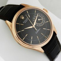 Rolex Cellini Date 39mm 18k Rose Gold 50515 Black