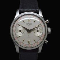 "Heuer Chronograph Pre Carrera 404 T Valjoux 23 Tasti ""Spil..."