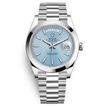 Rolex Day-Date 40 Platinum 40mm Blue No numerals