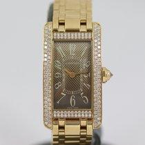 Cartier Tank Américaine Yellow gold 19mm Brown Arabic numerals
