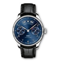 IWC Portuguese Annual Calendar Steel 44.2mm Blue Arabic numerals United States of America, New York, NEW YORK