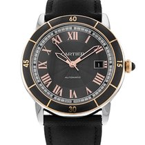Cartier Ronde Croisière de Cartier Steel 42mm Grey Roman numerals United States of America, New York, New York