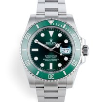 Rolex Submariner Date Сталь 40mm Зелёный