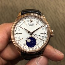 Rolex Cellini Moonphase Rose gold 39mm White No numerals Singapore, Singapore