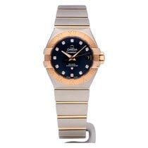 Omega Constellation Ladies Gold/Steel 27mm Blue No numerals