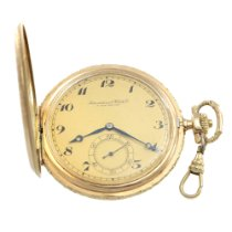 IWC IWC Watch Co. Pocket Watch Full Hunter 14k Gold 27s 1 1907 gebraucht