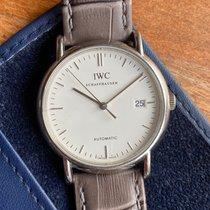 IWC Portofino Automatic Acier 38mm Blanc Sans chiffres