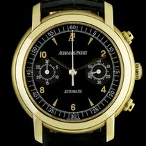 Audemars Piguet 18k Yellow Gold Black Dial Chronograph Gents