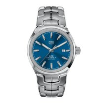 TAG Heuer Steel Automatic Blue No numerals 41mm new Link Calibre 5