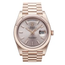 Rolex Day-Date 40 Rose gold 40mm Silver