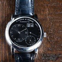 A. Lange & Söhne Platinum Manual winding Black pre-owned Lange 1
