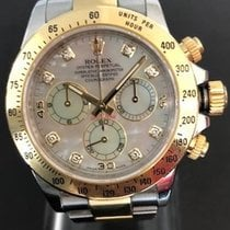 Rolex DAYTONA Steel & Yellow Gold White MOP Diamond Dial
