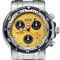 Swiss Military Steel 44mm Quartz Seewolf I 1728 new United States of America, New York, New York City