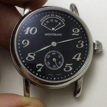 Montblanc Caja del reloj usados 35mm Cuero Acero