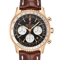 Breitling Red gold Automatic Black 43mm new Navitimer 1 B01 Chronograph 43