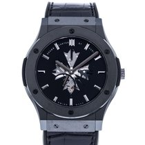 Hublot Ceramic Manual winding Black 45mm pre-owned Classic Fusion Ultra-Thin