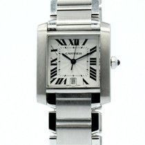 Cartier Tank Française Steel 28mm Roman numerals United States of America, California, West Hollywood
