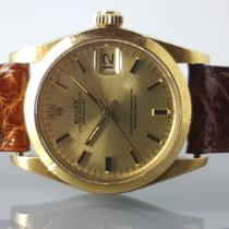 Rolex Red gold Automatic Champagne 31mm pre-owned Datejust