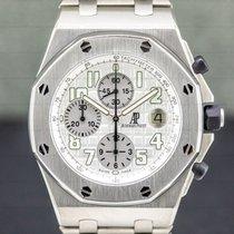 Audemars Piguet Royal Oak Offshore Chronograph Titanium 42mm Silver Arabic numerals