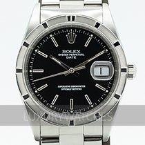 Rolex Oyster Perpetual Date Stål 34mm Svart Sverige, Stockholm