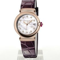 Bulgari Rose gold Automatic Mother of pearl 33mm new Lucea
