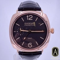 Panerai Radiomir 3 Days GMT Oro rosa 47mm Marrón Arábigos