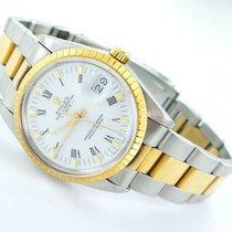 Rolex Date Herren  Uhr - Ref.15053 Stahl/gold Papiere Oysterband