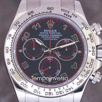 Rolex Daytona white gold arabic black dial full set