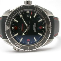 Omega 232324 Seamaster Planet Ocean Rubber Strap Orange Stitch...