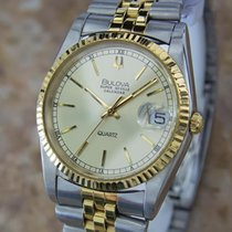 Bulova Super Seville Swiss Made Mens Stainless St Quartz Dress...