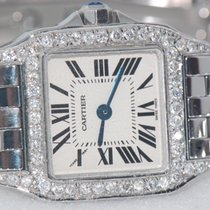 Cartier Santos Demoiselle pre-owned 22mm Silver Steel