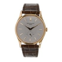 パテック フィリップ Calatrava 37mm Rose Gold on Leather Strap Watch...