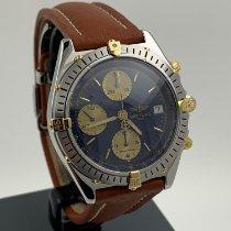 Breitling Chronomat Blue Steel Gold Date Like New B13050.1 -
