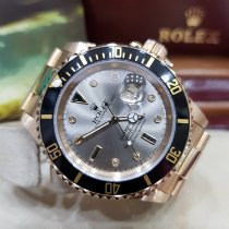Rolex Submariner Date Yellow gold 40mm Silver No numerals Singapore, singapore